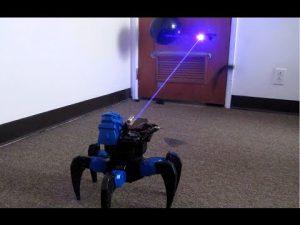 Ev yapımı Lazer robot Uzaktan kumandalı